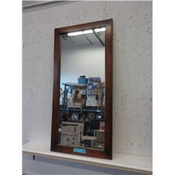 Wood Framed Vertical Wall Mirror