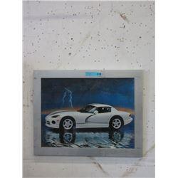 Framed Poster of a Viper Car