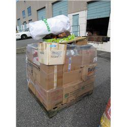 Wrapped Skid of Storage Locker Goods