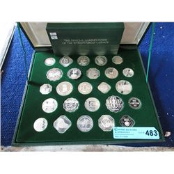 Set of 25 Silver Franklin Mint Gaming Tokens