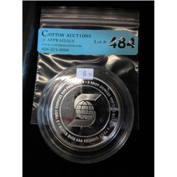5 Oz. Scotia Bank Motif .999 Silver Round