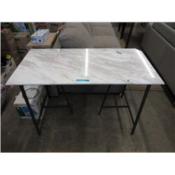 Marble Top Desk with Metal Frame
