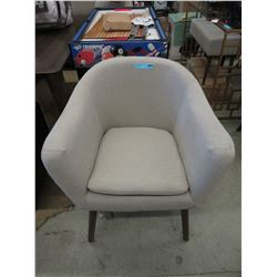 New Porter Upholstered Tub Chairs with Wood Legs
