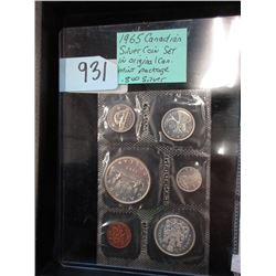1965 Canadian Silver Coin Set in Sealed Package