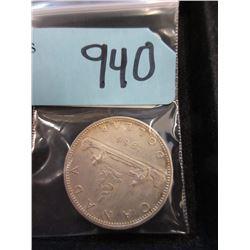 1966 Canadian Silver Dollar Coin  - .800 Silver