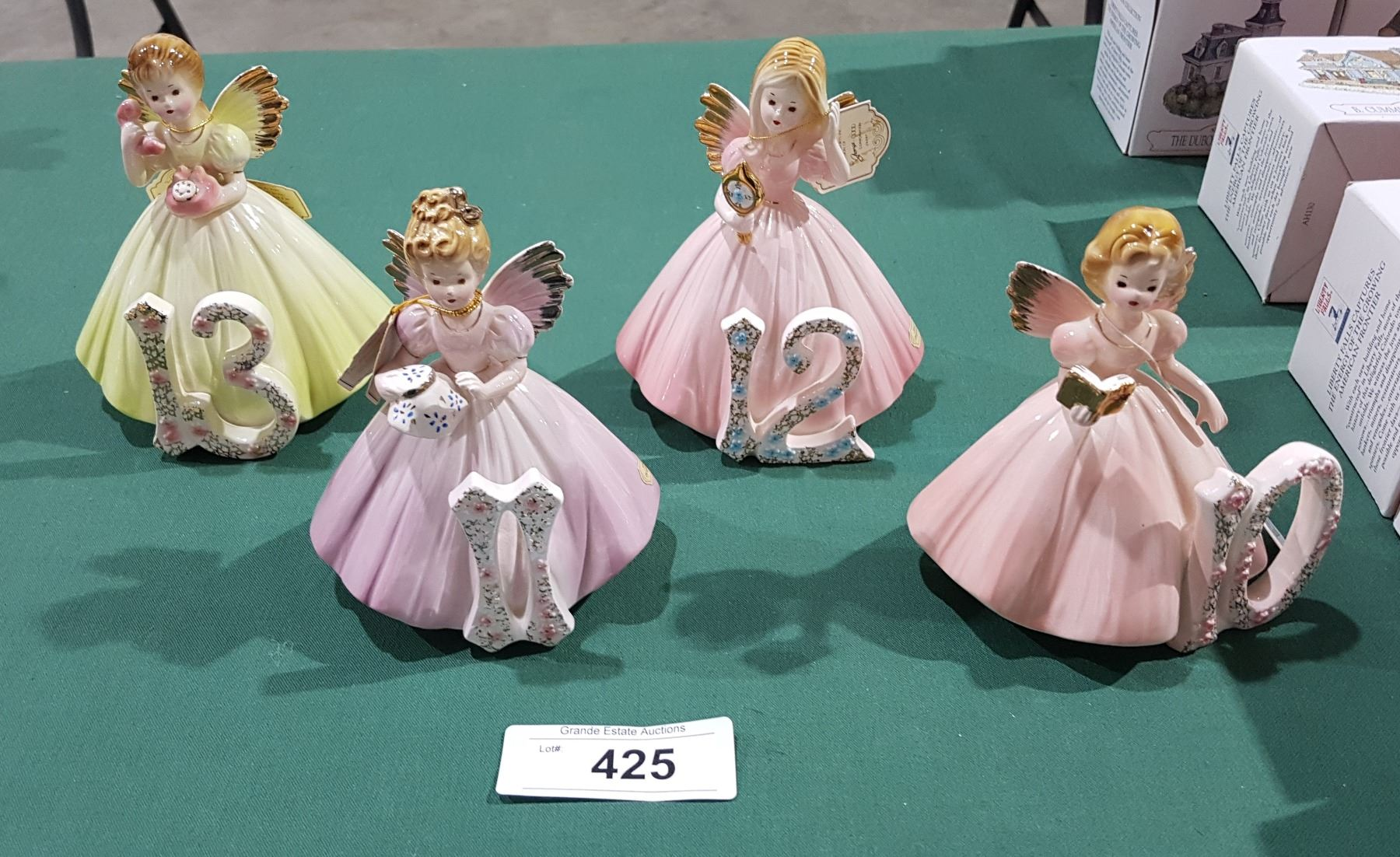 Vintage Josef Originals Birthday angels #4 and #7