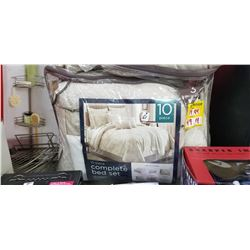 Queen 10 Piece Complete Bed Set