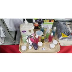 Organic Tray  Lot Creams , Hand Sanitizers ,soaps