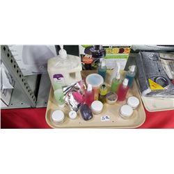Organic Tray  Lot Creams , Hand Sanitizers ,soaps