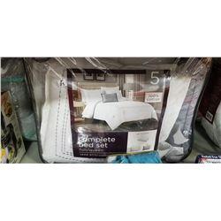 Queen 5 piece Comforter set 100% cotton