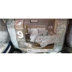 King size 9 piece comforter set