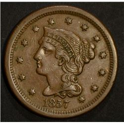 1857 LARGE CENT SMALL DATE CHOICE AU