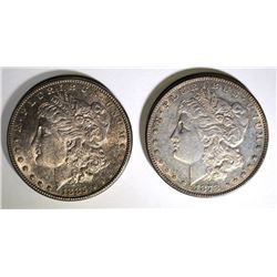 1878 7F & 85 CH BU MORGAN DOLLARS TONED