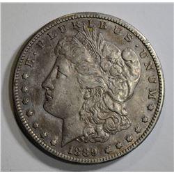 1889-S MORGAN DOLLAR, XF/AU