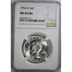 1954-D FRANKLIN HALF DOLLAR NGC