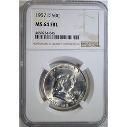 1957-D FRANKLIN HALF DOLLAR NGC