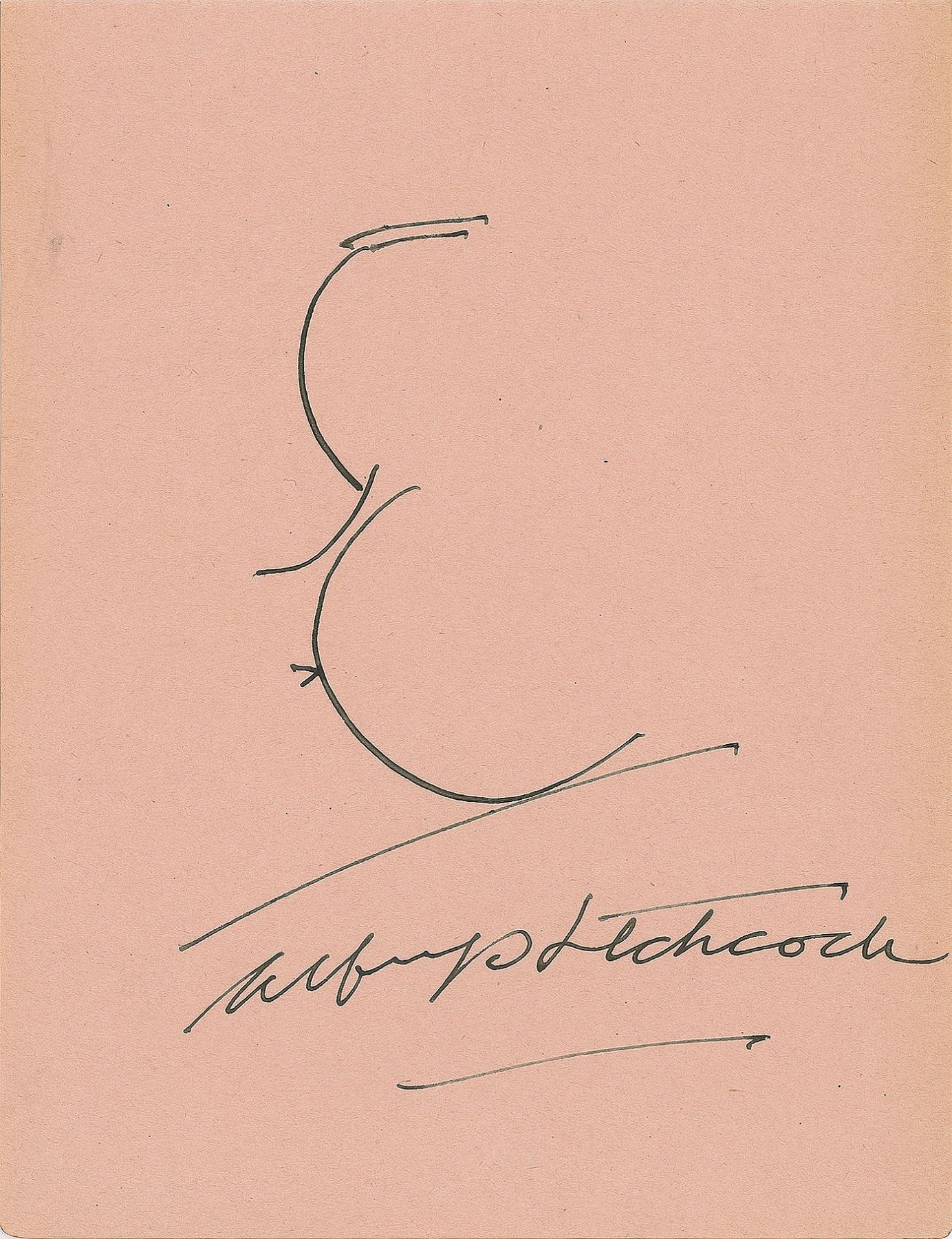 """Autograph Signed Photo Repro of /""""Presents/"""" director Alfred Hitchcock"""