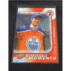 2016 UD Memorable Moments Connor McDavid Card