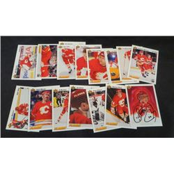 Lot Of 17 Calgary Flames Cards With Theo Fleury