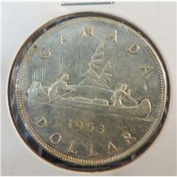 1953 Canadian Silver $1 Coin