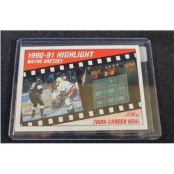 1991-92 Score American #413 Wayne Gretzky 700th