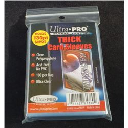Ultra Pro 130pt Thick Card Sleeves Pack Of 100