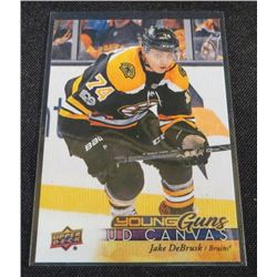 17-18 Upper Deck Canvas #C112 Jake DeBrusk YG