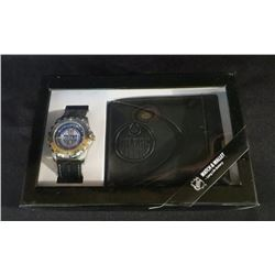 New Edmonton Oilers NHL Watch & Leather Wallet