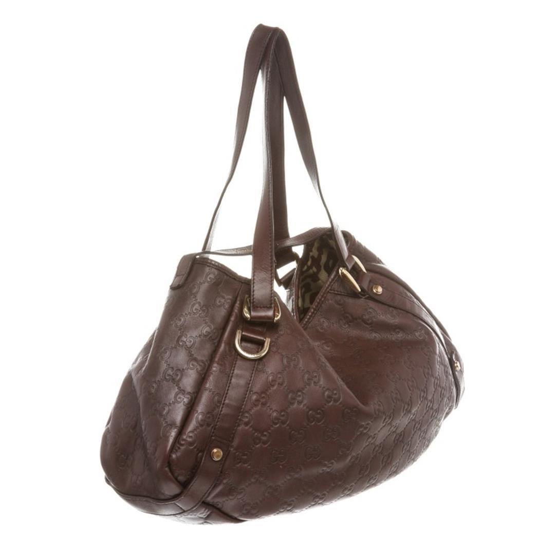 607f3a461875ad Gucci Burgundy Leather Guccissima Abbey Medium Tote Bag