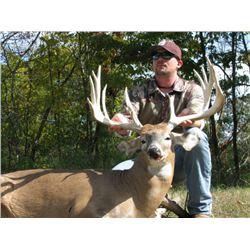 3-Day/4-Night Missouri Whitetail Hunt for 1 Hunter at NFL Legend, Adam Vinatieri's Record Breaking R