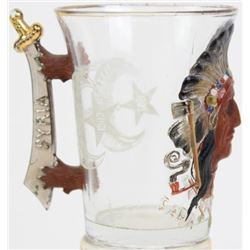 1903 Mason Shriner glass