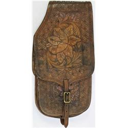 Nicely tooled leather saddle bags