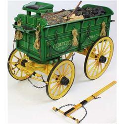 Dale Ford b. 1934 miniature wood and coal wagon