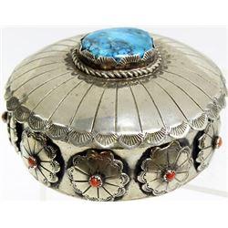 Fine vintage Navajo jewelry box