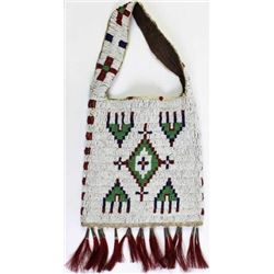 C. 1890's to 1900 Sioux beaded bag