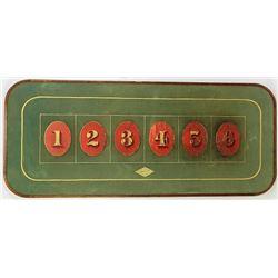 Antique gambling layout board
