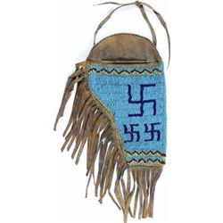 Northern Plains beaded on leather holster