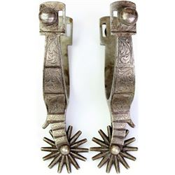 Garcia single mounted and inlaid spurs