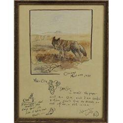 Illustrated letter by Assiniboine artist