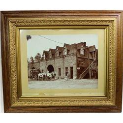 Large original framed photo of Hot Springs SD