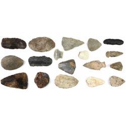 Collection of 18 stone artifacts
