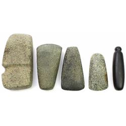 Collection of 5 stone artifacts