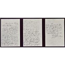 Handwritten 3 page letter from Josephine Earp