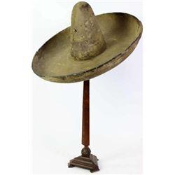 "C. 1890's Mexican felt sombrero 10"" crown"