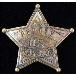 Deputy US Marshal badge 5 point star