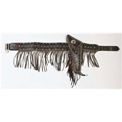Early fringed flap holster and belt