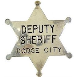 6 point ball tip star badge Deputy Sheriff