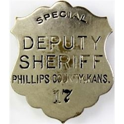 Hallmarked shield badge Special Deputy
