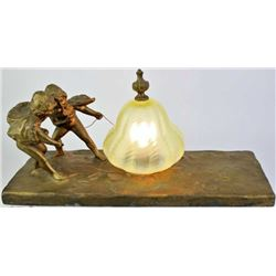 "Vintage ""Snow Angels"" figural table lamp"