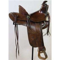 Fred Mueller-Tipton Bronco Busting saddle